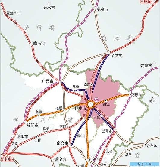 巴南广高速公路营山至广安段年底将通车