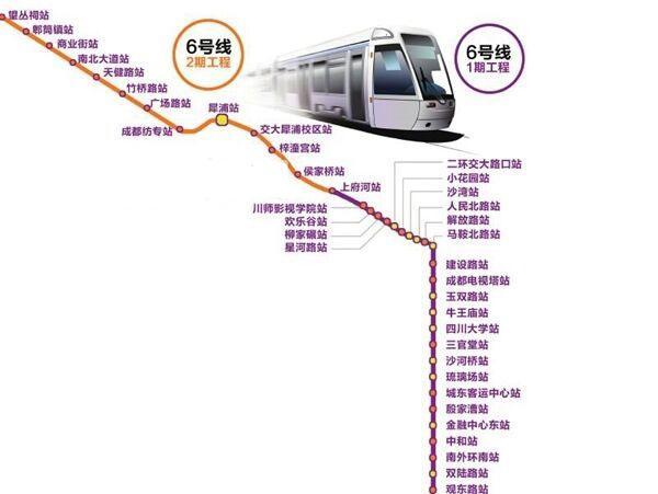 成都地铁6号线开始车站主体结构施工 2020年通车