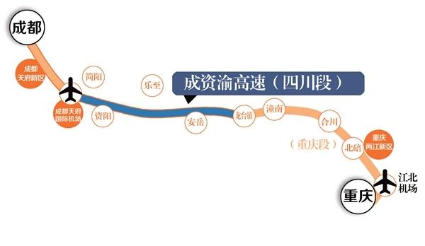成渝间修第四条高速  连接川渝两大新区