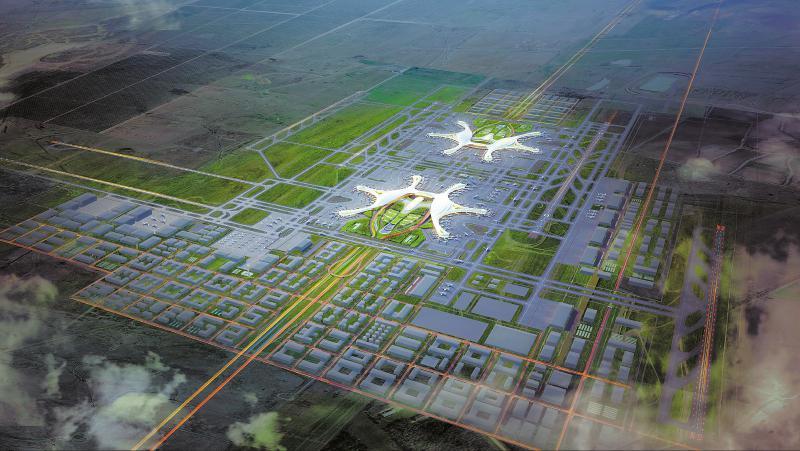 成都天府国际机场航站楼开建