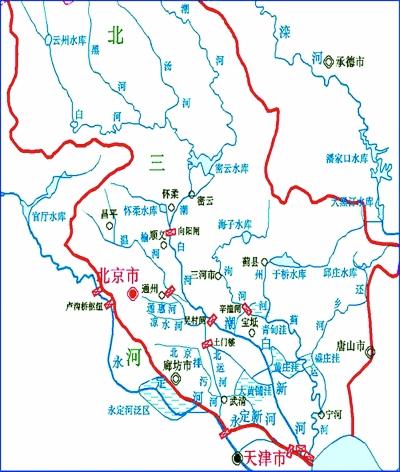 漕运北延线——潮白河水运